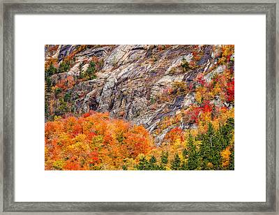 Color In The Notch Framed Print by Jeff Sinon