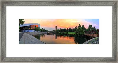 Color In The Park Framed Print by Dan Quam