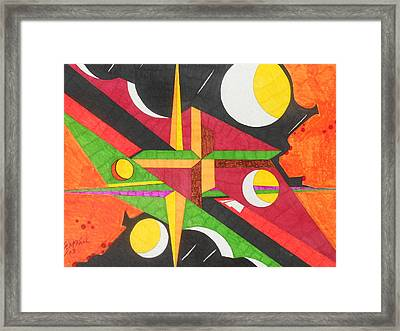 Color In Time Framed Print by Willie McNeal