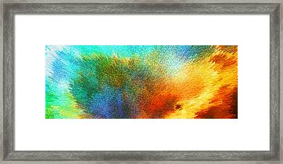 Color Infinity - Abstract Art By Sharon Cummings Framed Print