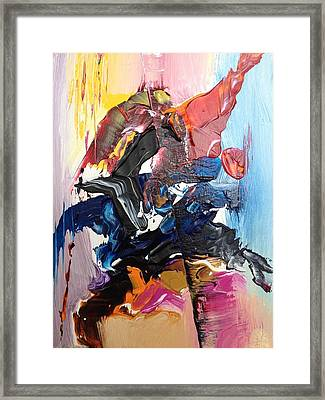 Color Jumble Framed Print by Angelo Terracciano