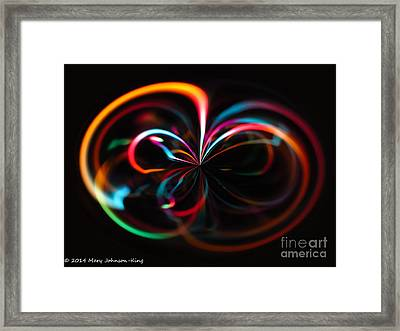 Color Light Framed Print by Mary  King