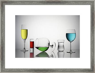 Color Liqued Framed Print