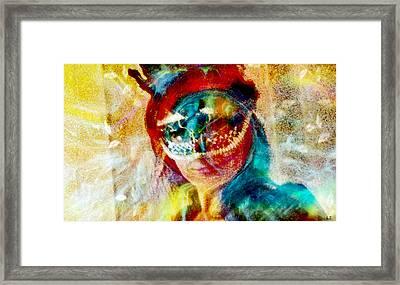 Color Mask Framed Print by Linda Sannuti