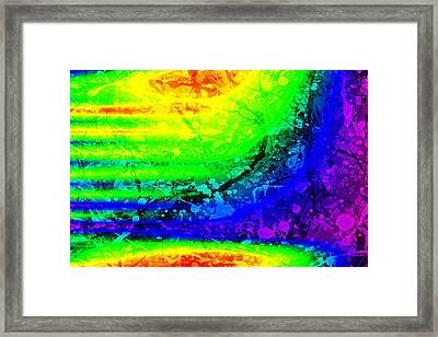 Color Maze Framed Print