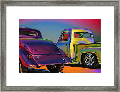 Framed Print featuring the photograph Color Me A Hot Rod by Christopher McKenzie