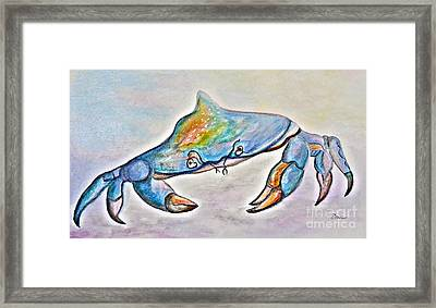 Color Me Blue . . . And Speckled Too Framed Print by Eloise Schneider