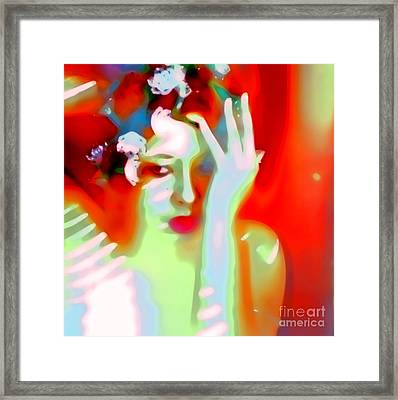 Framed Print featuring the photograph Color Me Blue by Jessica Shelton