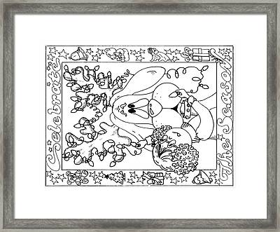 Color Me Card - Christmas Framed Print