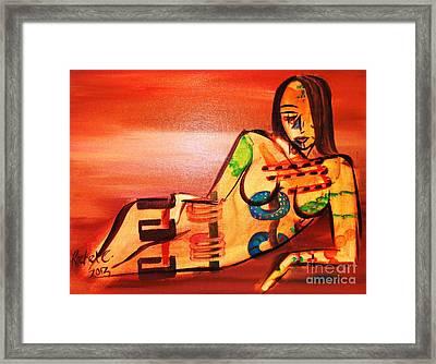 Color Me Crazy Framed Print by Rachel Carmichael