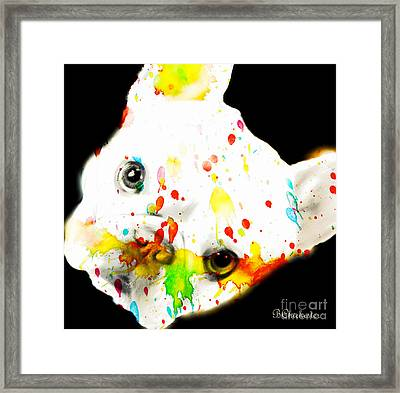 Color Me Frenchie Framed Print by Barbara Chichester