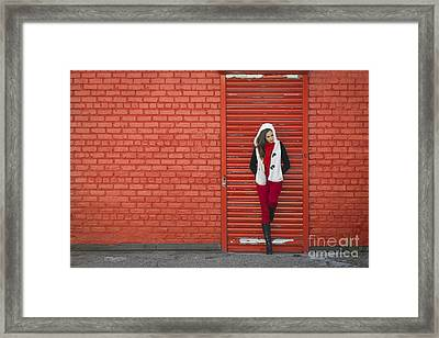 Color Me Red Framed Print