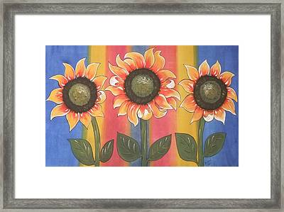 Color Me Sunny Framed Print by Cindy Micklos