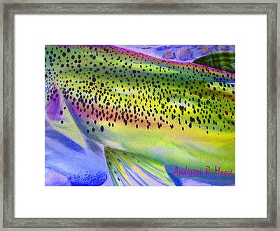 Color Me Trout Framed Print by Anderson R Moore