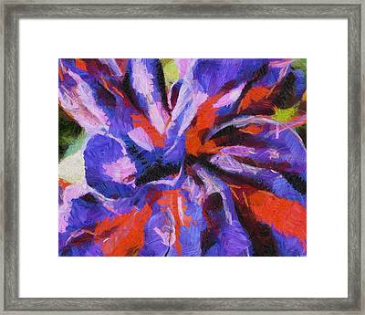 Framed Print featuring the digital art Color My Insecurity by Joe Misrasi