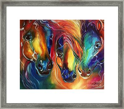 Color My World With Horses Framed Print