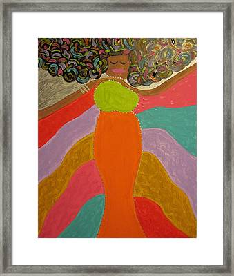 Color Of Dance Framed Print by Clarissa Burton
