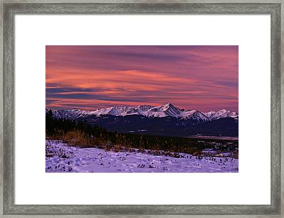 Color Of Dawn Framed Print