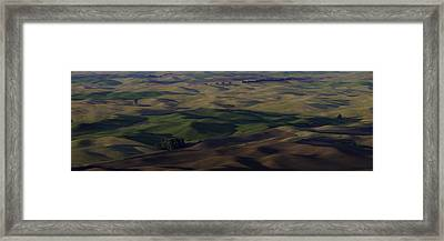Color Of Hills Framed Print by Latah Trail Foundation