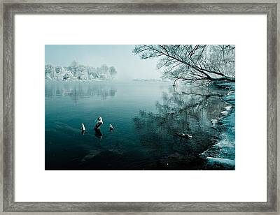 Color Of Ice Framed Print