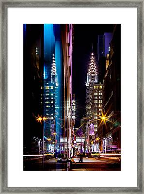 Color Of Manhattan Framed Print by Az Jackson