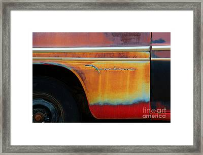 Color Of Rust Framed Print by Bob Christopher