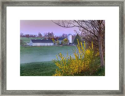 Color Of Spring Framed Print by Bill Wakeley