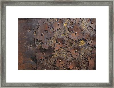 Color Of Steel 2 Framed Print