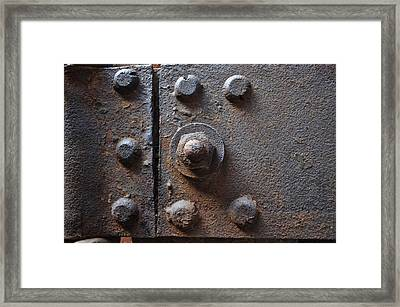 Framed Print featuring the photograph Color Of Steel 3 by Fran Riley