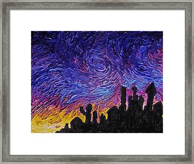 Color Of The Sky Part1 Framed Print