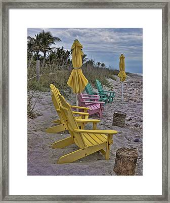 Color On A Gray Day Framed Print