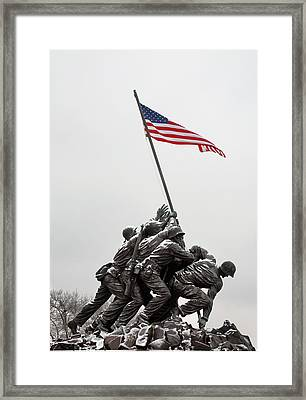 Color On A Grey Day Framed Print