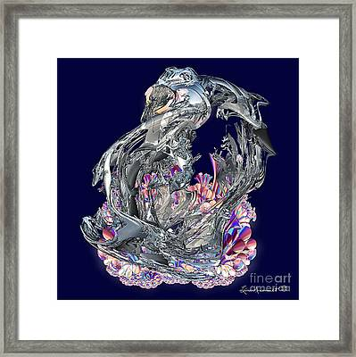 Color On Chrome Framed Print by Leona Arsenault