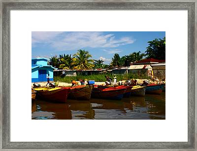 Framed Print featuring the photograph Color On The Black River by Jon Emery