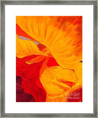 Framed Print featuring the painting Color Orange by Mukta Gupta
