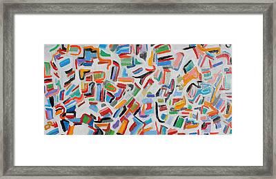 Color Order Oil On Canvas 24 X 48 Framed Print
