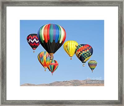 Color Over Reno Framed Print