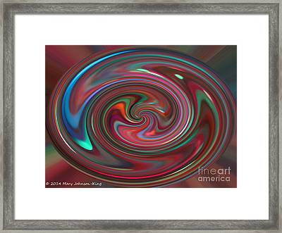 Color Painting Framed Print by Mary  King