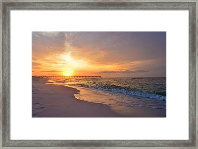 Color Palette Of God On The Beach Framed Print
