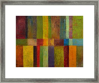 Color Panel Abstract Ll Framed Print by Michelle Calkins