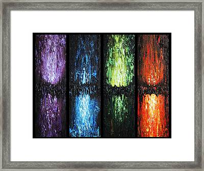 Framed Print featuring the painting Color Panels 1 by Patricia Lintner