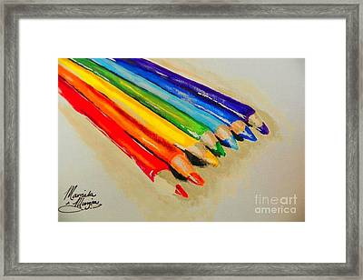 Color Pencils Framed Print