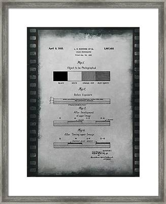 Color Photography Patent On Film Framed Print by Dan Sproul