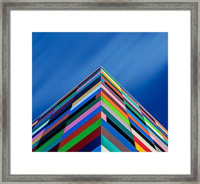 Color Pyramid Framed Print