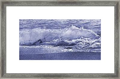 Color Quiet Wave Framed Print by Betsy Knapp