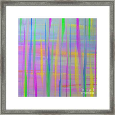 Color Reef Abstract Square Framed Print