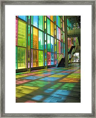 Color Reflection Framed Print by Alfred Ng