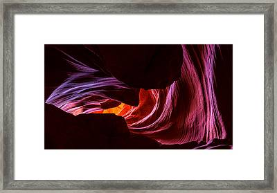 Color Ribbons Framed Print