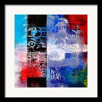 Linocut Paintings Framed Prints
