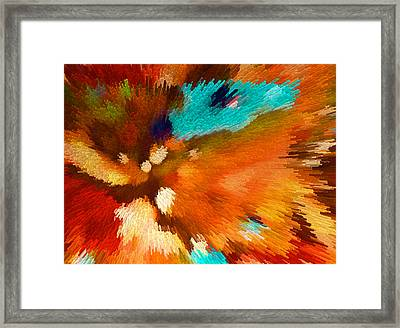 Color Shock 1 - Vibrant Digital Painting Framed Print by Sharon Cummings